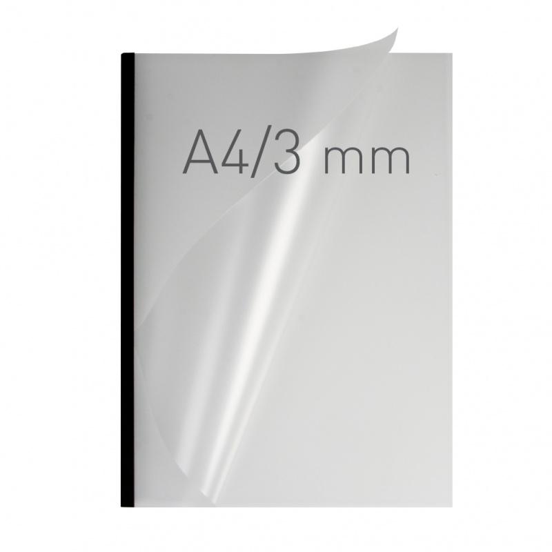O.easyCOVER Double Half-Matt A4 3mm czarny 40szt, Oprawa dokumentów, Urządzenia i maszyny biurowe