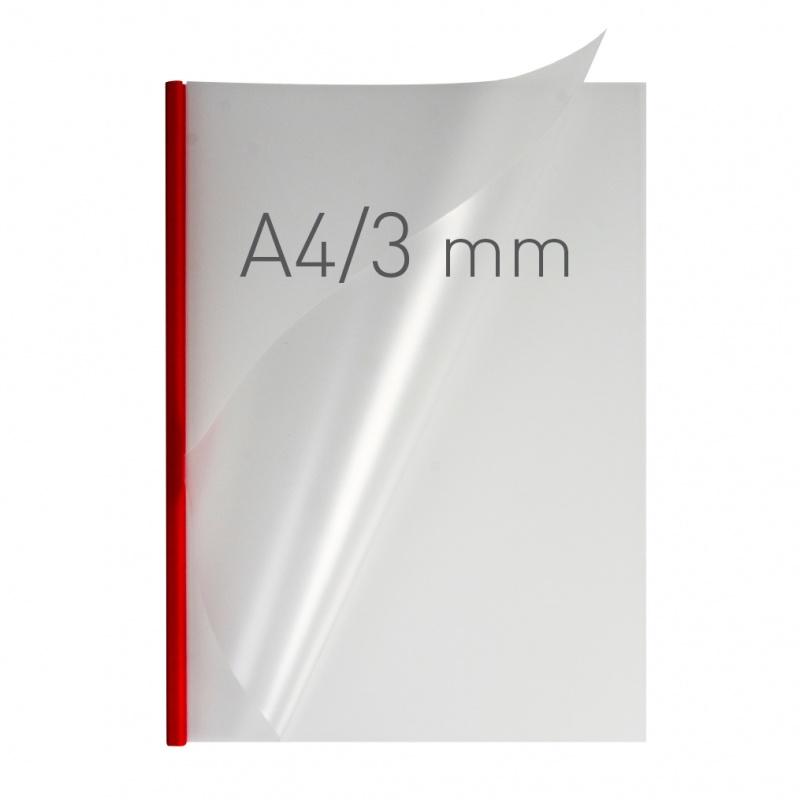O.easyCOVER Double Half-Matt A4 3mm czerwony 40szt, Oprawa dokumentów, Urządzenia i maszyny biurowe