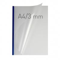 O.easyCOVER Double Half-Matt A4 3mm niebieski 40szt, Oprawa dokumentów, Urządzenia i maszyny biurowe