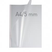 O.easyCOVER Double Half-Matt A4 5mm biały 40szt, Oprawa dokumentów, Urządzenia i maszyny biurowe