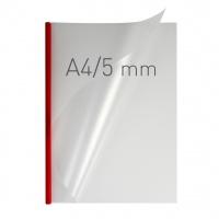 O.easyCOVER Double Half-Matt A4 5mm czerwony 40szt, Oprawa dokumentów, Urządzenia i maszyny biurowe