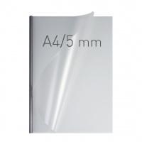 O.easyCOVER Double Half-Matt A4 5mm srebrny 40szt, Oprawa dokumentów, Urządzenia i maszyny biurowe