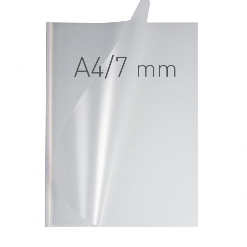 O.easyCOVER Double Half-Matt A4 7mm biały 40szt, Oprawa dokumentów, Urządzenia i maszyny biurowe