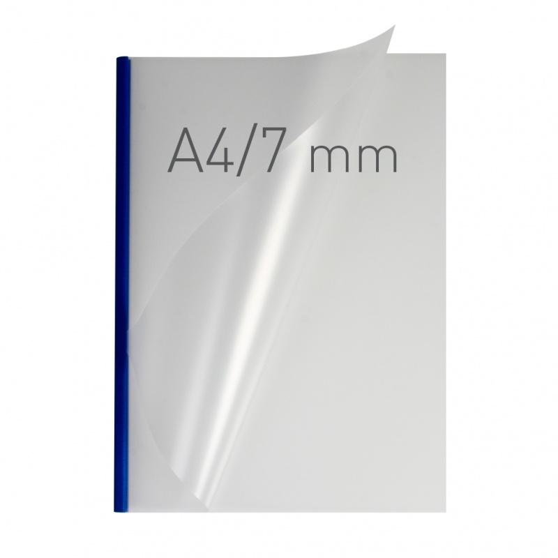 O.easyCOVER Double Half-Matt A4 7mm niebieski 40szt, Oprawa dokumentów, Urządzenia i maszyny biurowe