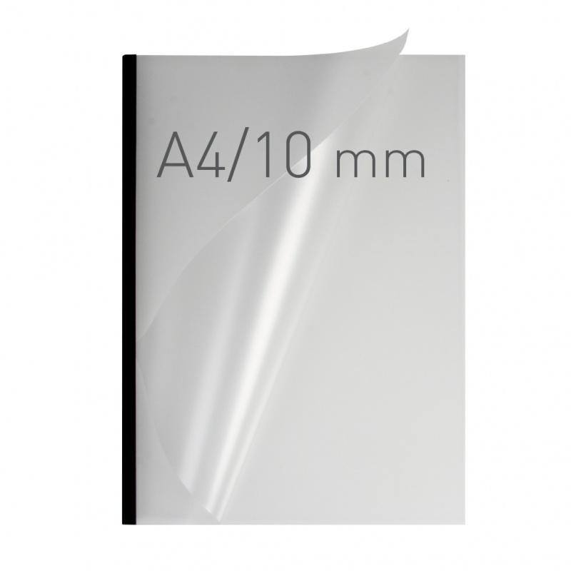 O.easyCOVER Double Half-Matt A4 10mm czarny 30szt, Oprawa dokumentów, Urządzenia i maszyny biurowe