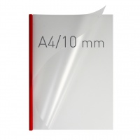 O.easyCOVER Double Half-Matt A4 10mm czerwony 30szt, Oprawa dokumentów, Urządzenia i maszyny biurowe