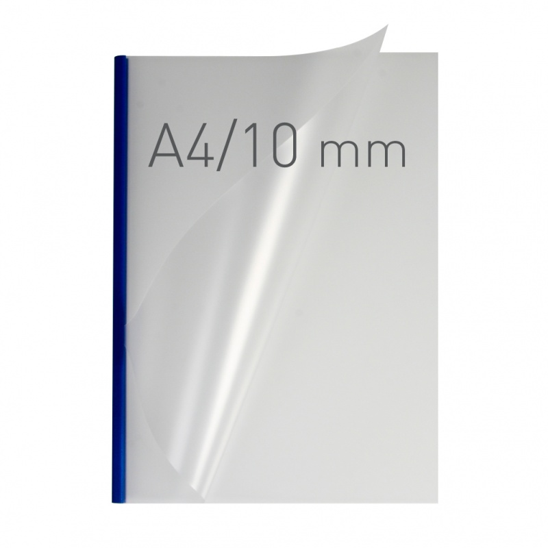 O.easyCOVER Double Half-Matt A4 10mm niebieski 30szt, Oprawa dokumentów, Urządzenia i maszyny biurowe