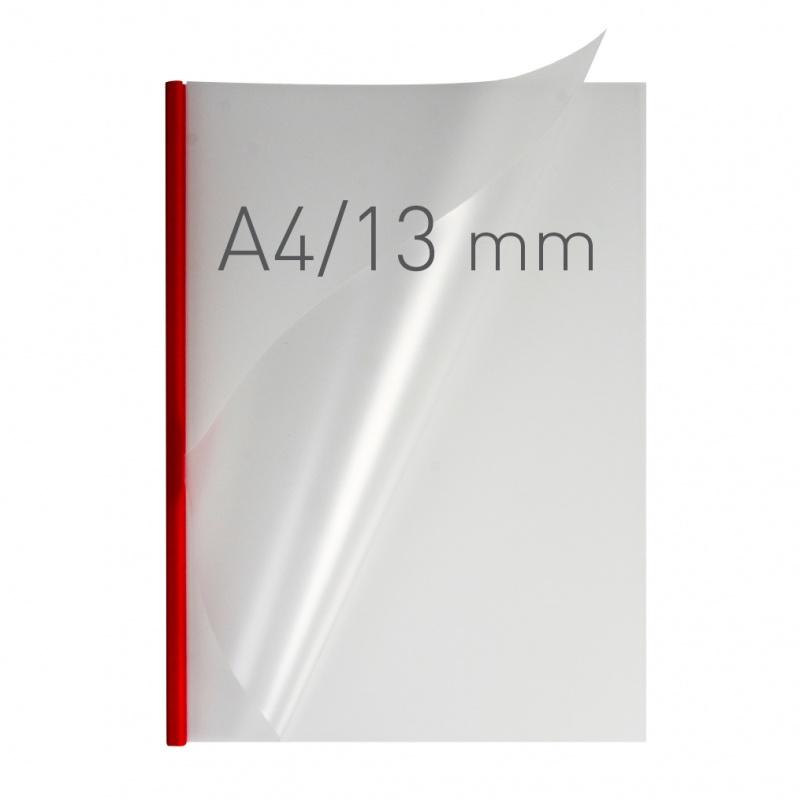 O.easyCOVER Double Half-Matt A4 13mm czerwony 30szt, Oprawa dokumentów, Urządzenia i maszyny biurowe