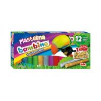 Plastelina Bambino 12 kolorów, Plastelina, Artykuły szkolne