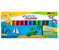 Plasticine, GIMBOO, 12 pcs, assorted colours
