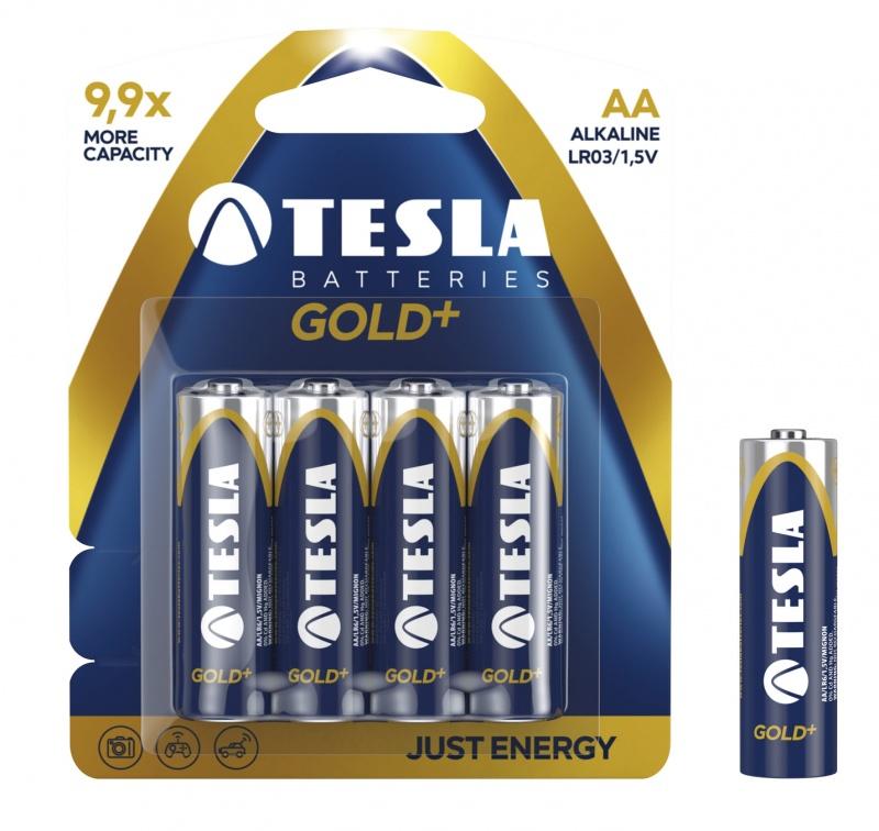 Baterie Tesla Alkaliczne AA Gold+ LR06 blister, Baterie, Urządzenia i maszyny biurowe
