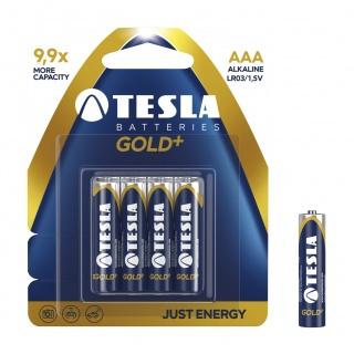 Baterie Tesla Alkaliczne AAA Gold+ LR03 blister, Baterie, Urządzenia i maszyny biurowe