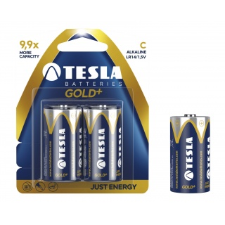 Baterie Tesla Alkaliczne C Gold+ LR14 blister, Baterie, Urządzenia i maszyny biurowe
