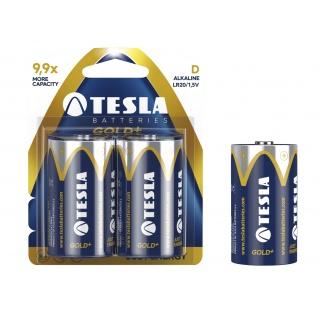 Baterie Tesla Alkaliczne D Gold+ LR20 blister, Baterie, Urządzenia i maszyny biurowe