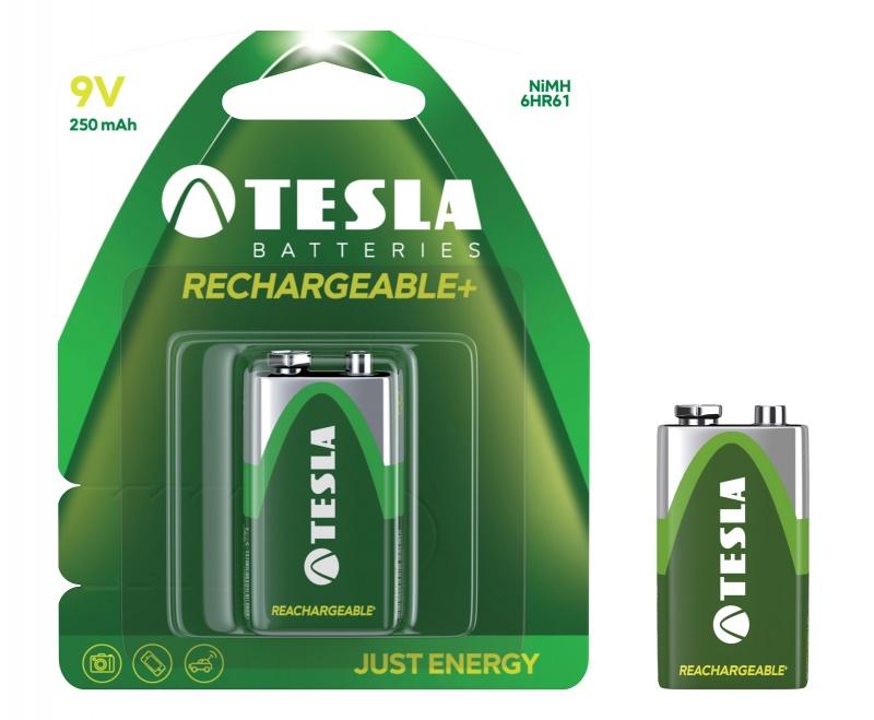 Baterie Tesla Akumulator 9V Green+ 6HR61 blister, Baterie, Urządzenia i maszyny biurowe