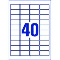 Etykiety przezroczyste Crystal Clear Avery Zweckform; A4, 25 ark./op., 45,7 x 25,4 mm, Etykiety, Papier i galanteria papiernicza