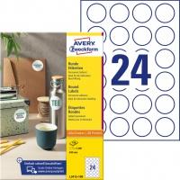 Etykiety okrągłe Avery Zweckform; A4, 100 ark./op., Ø40 mm, białe, trwałe, Etykiety do oznaczania, Etykiety