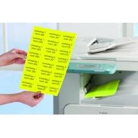 Etykiety neonowe Avery Zweckform; A4, 25 ark./op., 210 x 297 mm, żółte neonowe, Etykiety, Papier i galanteria papiernicza