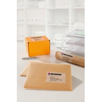 Etykiety wysyłkowe przezroczyste Avery Zweckform; A4, 25 ark./op., 210 x 297 mm, Etykiety na paczki i przesyłki, Etykiety