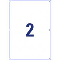 Etykiety wysyłkowe odporne na zmiany pogodowe Avery Zweckform; A4, 25 ark./op., 199,6 x 143,5 mm, białe, Etykiety na paczki i przesyłki, Etykiety
