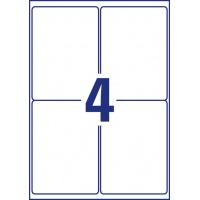 Etykiety Heavy Duty Avery Zweckform; A4, 20 ark./op., 99,1 x 139 mm, białe, poliestrowe, Etykiety ochronne i zabezpieczające, Etykiety