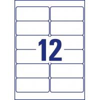 Etykiety Heavy Duty Avery Zweckform; A4, 20 ark./op., 99,1 x 42,3 mm, białe, poliestrowe, Etykiety ochronne i zabezpieczające, Etykiety