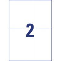 Etykiety polietylenowe ultra resistant Avery Zweckform, A4, 10 ark./op., 210 x 148mm, białe, Etykiety ochronne i zabezpieczające, Etykiety