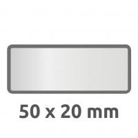Tabliczki inwentaryzacyjne poliestrowe srebrne do opisu ręcznego Avery Zweckform; 50 szt., 50x20mm, czarne ramki, puste, Etykiety, Papier i galanteria papiernicza