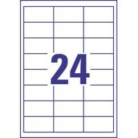 Trwałe etykiety uniwersalne Avery Zweckform; A4, 10 ark./op., 64,6 x 33,8 mm, białe, Etykiety, Papier i galanteria papiernicza