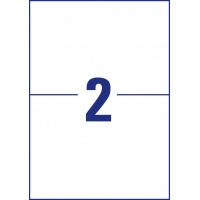 Trwałe etykiety uniwersalne Avery Zweckform; A4, 100 ark./op., 210 x 148 mm, białe, Etykiety uniwersalne, Etykiety