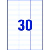 Trwałe etykiety uniwersalne Avery Zweckform; A4, 100 ark./op., 70 x 29,7 mm, białe, Etykiety, Papier i galanteria papiernicza