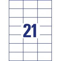 Trwałe etykiety uniwersalne Avery Zweckform; A4, 100 ark./op., 70 x 42,3 mm, białe, Etykiety uniwersalne, Etykiety
