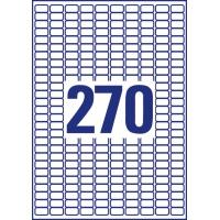 Usuwalne etykiety uniwersalne Avery Zweckform; A4, 30 ark./op., 17,8 x 10 mm, białe, Etykiety uniwersalne, Etykiety