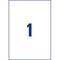 Usuwalne etykiety uniwersalne Avery Zweckform; A4, 30 ark./op., 210 x 297 mm, białe, Etykiety uniwersalne, Etykiety