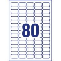 Usuwalne etykiety uniwersalne Avery Zweckform; A4, 30 ark./op., 35,6 x 16,9 mm, białe, Etykiety uniwersalne, Etykiety