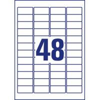 Usuwalne etykiety uniwersalne Avery Zweckform; A4, 30 ark./op., 45,7 x 21,2 mm, białe, Etykiety uniwersalne, Etykiety