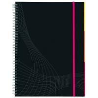 Kołonotatnik Notizio A5; oprawa twarda; ciemnoszary; kratka; 90 kartek; Avery Zweckform, Kołonotatniki, Papier i galanteria papiernicza