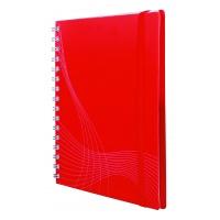 Kołonotatnik Notizio A5; oprawa - tworzywo sztuczne; czerwony; kratka; 90 kartek; Avery Zweckform, Kołonotatniki, Papier i galanteria papiernicza