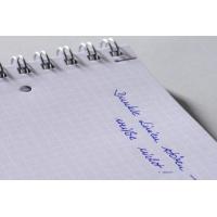 Kołonotatnik Notizio A5; oprawa - tworzywo sztuczne; niebieski; kratka; 90 kartek; Avery Zweckform, Kołonotatniki, Papier i galanteria papiernicza