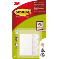 Velcro strips, Command™ (17202 PL), for hanging pictures, small, 2 pcs, white