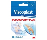 Plaster, waterproof, VISCOPLAST Plus, 10 pcs + 2 pcs for FREE