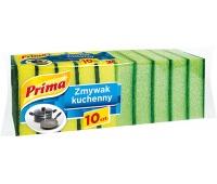 Gąbka do zmywania PRIMA, 10szt., zielona, Akcesoria do sprzątania, Artykuły higieniczne i dozowniki