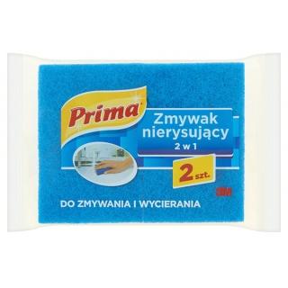 Gąbka do zmywania PRIMA, nierysujący, do zmywania i wycierania, 2szt., niebieska, Akcesoria do sprzątania, Artykuły higieniczne i dozowniki