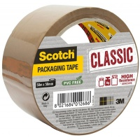 Packaging tape, Scotch® Hot-melt (C5050S-B-EU) 50mm, 50m, brown