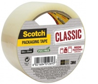 Packaging tape, Scotch® Hot-melt (C5050S-T-EU) 50mm, 50m, transparent