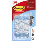 Haki wielokrotnego użytku COMMAND™ (17006 CLR), małe, 6szt., transparentne, Haczyki, Prezentacja