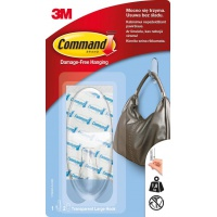 Reusable hook, COMMAND™ (17093CLR PL), large, transparent