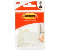 Reusable hook, COMMAND™ Basic (17502DB-CEE), with a metal handle, small, white