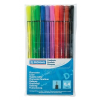 Fineliner, DONAU D-Fine, 0.4mm, 10pcs, assorted colours