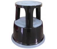 Office stool, Q-CONNECT, mobile, metal, black